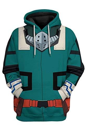 Harrypetter Sudadera con Capucha de Midoriya Izuku de My Hero Academia Disfraz de Boku no Hero Academia Deku Pullover Suter, M