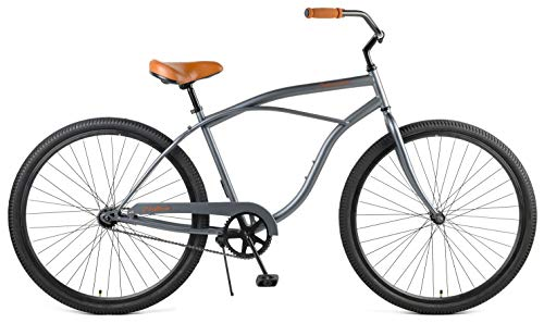Retrospec Chatham Men's Beach Cruiser, Black & White, 26'/3-speed