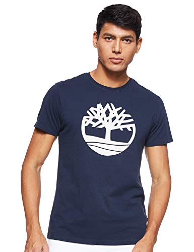 Timberland SS Kennebec River Brand Regular tee (Tree & Linear) Camiseta para Hombre
