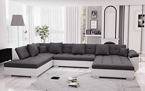 Bestmobilier - Belmont - Canapé d'angle panoramique XXL en U - Gauche