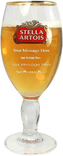 Personalised/Engraved Nucleated Stella Artois Pint Beer Glass - Enter Your Own Text