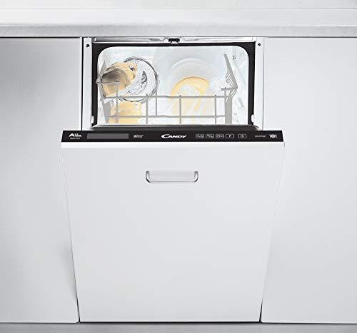Lave vaisselle encastrable Candy CDI2T1047 - Lave vaisselle tout integrable 45 cm - Classe A++ / 47 decibels - 10 couverts