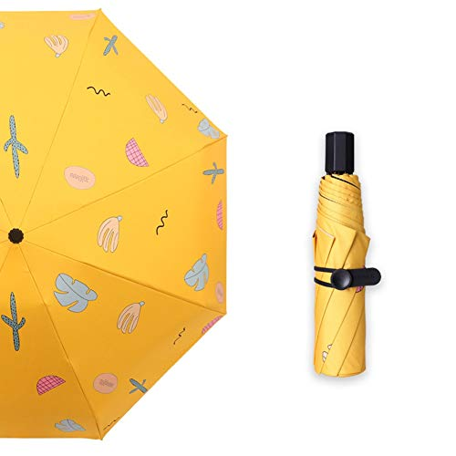 Paraplu creatieve fruit paraplu blad paraplu zwarte plastic paraplu zonnescherm paraplu zwarte plastic paraplu parasol parasol zonnescherm (rijst wit, zwart, geel, roze)