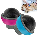 CHW Accesorios para mascotas Pelota de masaje para mascotas Entrenamiento muscular saludable Analgésico Puppy Dog Cat Massager - Rose Red,azul
