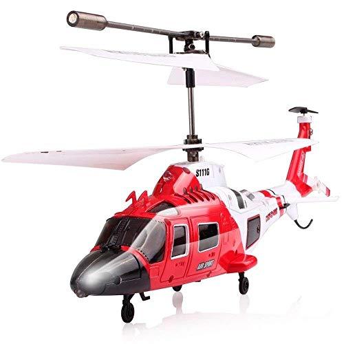 GRTVF 2.4G RC Ataque Marines Helicóptero con luz LED 3.5CH Helicóptero Control Remoto RC RC Drone Frote a Prueba de niños para niños Juguete Easter Boy Regalo