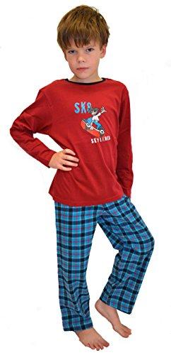 Mohn Knaben Schlafanzug Gr. 116 Langer Pyjama Jungen Jungs 100 Baumwolle billig billiger Langer Jungen Knaben Jungs Jungen-Schlafanzug Jungs-Schlafanzug Jungenpyjama lang lustig Disney Cars Minions