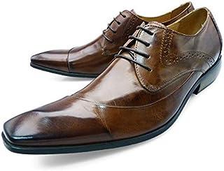[ バンプ アンド グラインド ] Bump N' GRIND bg-6000 ロングノーズ ビジネス シューズ ブローグ 紐タイプ メンズ [ 茶 系 キャメル 本革 レザー ] CAMEL LEATHER 革靴 紳士靴 ドレスシューズ