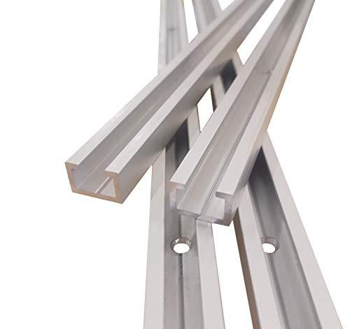 Aluminium C-Profil M8 gebohrt inkl. Schrauben, 1m, passend für M8 Schraube, eloxiert, Alu C Profil mit Bohrungen, 17x11mm, 1 Stück