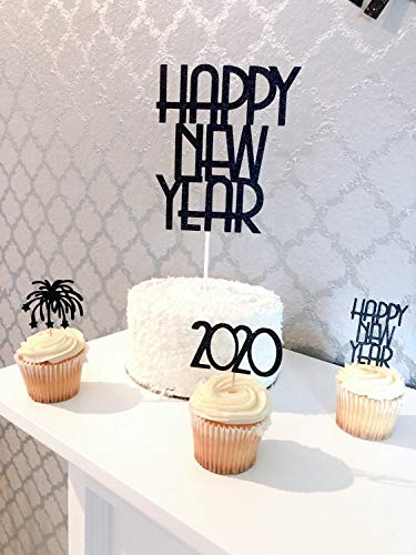 New Year Eve Cupcake Topper Set Happy New Year Cupcake Topper. 2020 Dekorationen. New Year's Eve Party. 2020 Topper