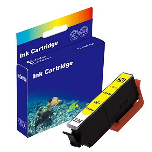 D&C - Cartucho de tinta amarilla para Epson T2634 Expression Premium XP-510 XP-520 XP-600 XP-605 XP-610 XP-615 XP-620 XP-625 XP-700 XP-710 XP-720 XP-800 XP-810 XP-820 (10 ml)