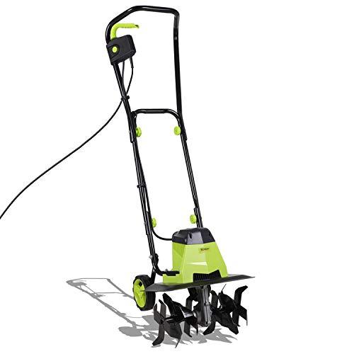 1500W Electric Garden Tiller – Garden Soil Cultivator/Rotavator with 6...