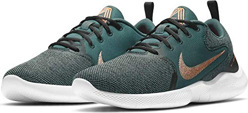 Nike Flex Experience RN 10, Zapatillas para Correr Hombre, Dk Teal Green Atomic Orange Black White Smoke Grey, 46 EU