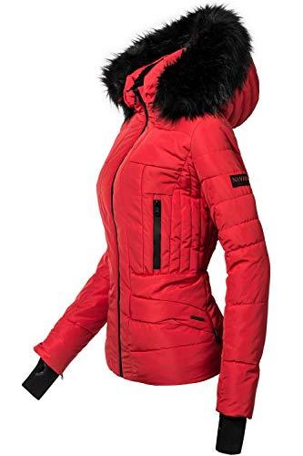 Navahoo Damen Winter Jacke Steppjacke Adele Rot Gr. XL