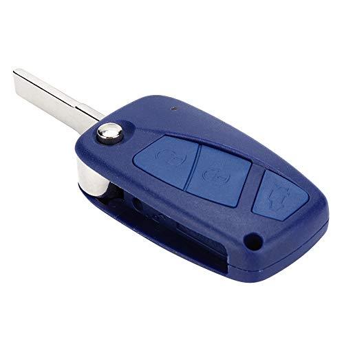 Funda con mando a distancia, funda con carcasa, funda con mando a distancia, llave de coche con 3 botones para coche, llave inteligente para coche Fiat