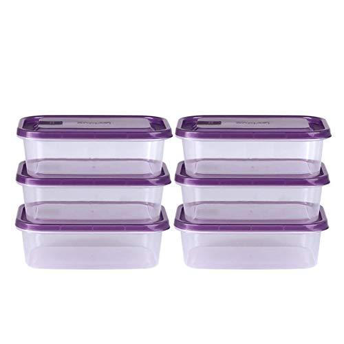 DPPD Contenitore per Alimenti, Adatto per lavastoviglie, 6 Confezioni |Congelatore, Microonde |Senza BPA Perfetto per l'uso Come Pasto Prep/Lunch/Bento Box (Colore: B)