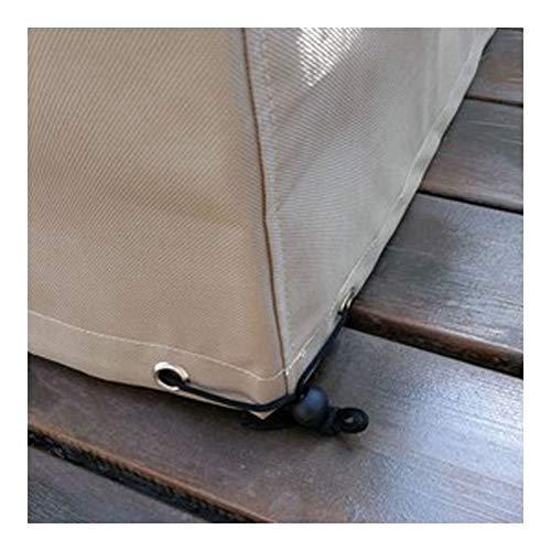 Nappe Couverture de Patio Bâche Extérieur Table Chaise Imperméable Crème Solaire Étanche À La Poussière Couvercle Protection Rectangulaire, Personnalisable ALGFree (Color : A, Size : 130x130x90cm)