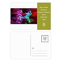 色のカルスト地形洞窟写真 詩のポストカードセットサンクスカード郵送側20個