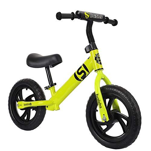 Bicicleta sin pedales YXX Bici Ligero Bicicleta de Equilibrio para 2 3 4 5 6 años Niños pequeños, niños y niñas, Niños Triciclo de Entrenamiento sin Pedal con neumáticos de Espuma Planos