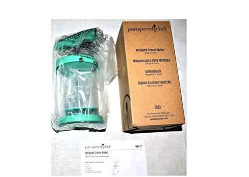 Pampered Chef Whipped Cream Maker - Handheld DIY Whipping Cream Dispenser   Non-Slip Silicone Grip Whipper Maker - #1461