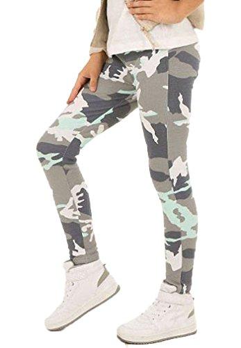 Dykmod Camouflage Mädchen Leggings Leggins Hose Kinder hk262 134 Minze