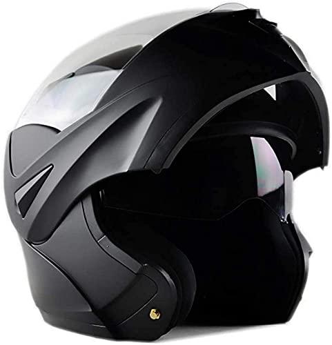WANGC Casco modular de motocicleta para adultos, doble visera, homologado DOT, casco de moto completo / abierto, para hombres y mujeres
