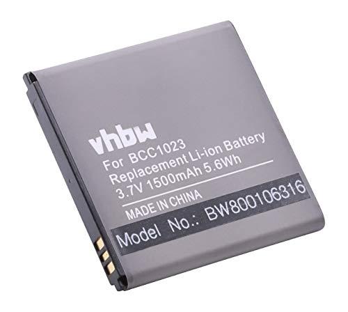 vhbw Li-Ion batteria 1500mAh (3.7V) per cellulari e smartphone Huawei Ascend Y320, Y320C, Y320T, Y321, Y321C, Y330 come HB5N1, HB5N1H, BCC1023.