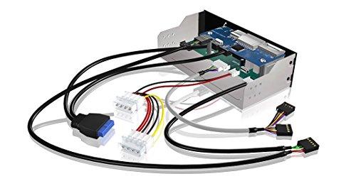 EZDIY-FAB All in-1 5.25 inch Metal Front Panel Card Reader with 2-Port USB 3.0,USB 2.0 HUB, ESATA HD Audio
