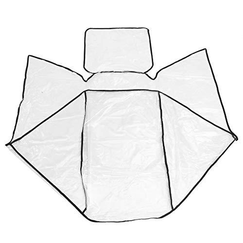 ILS – Cochecito gemelar para cochecito de bebé con protección contra el viento transparente