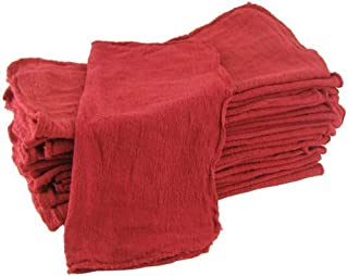 Shop Towels Red-Commercial/Industrial A Grade -100 Piece Box -NEW 100% Cotton
