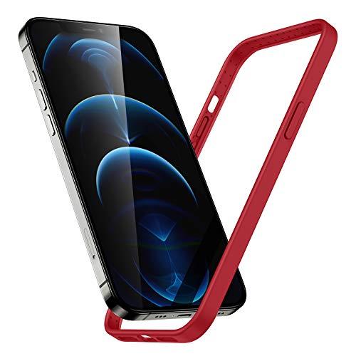 ESR Silikon Bumper Hülle kompatibel mit iPhone 12 und 12 Pro und kompatibel mit MagSafe kabellosem Rot
