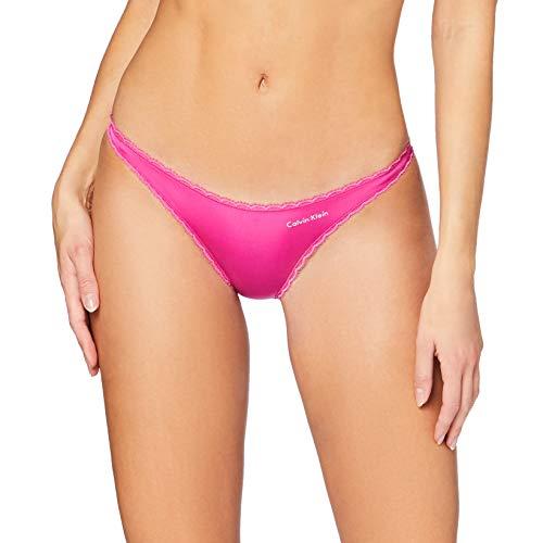 Calvin Klein Damen Bikini Bikinihose, Pink (Bright Magenta BM6), (Herstellergröße: X-Small)