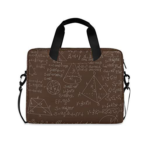 Mathematical Formulas On Brown Blackboard 15.6' 16' Laptop Case Sleeve Briefcase Computer Shoulder Bag W/Strap