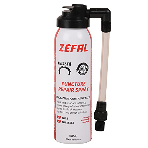 Zefal 112613 Antipinchazos reparador Espuma, Negro, 100 ml