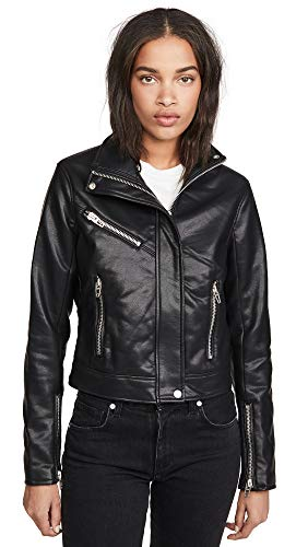 [BLANKNYC] Blank Denim Women's Essentials Moto Jacket, Black, X-Small