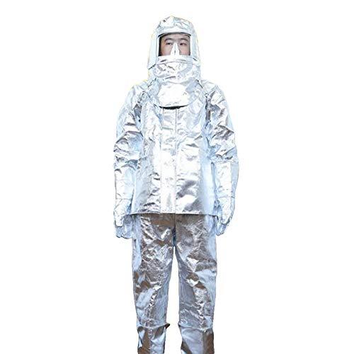 Heatile Aluminiumfolie Arbeitskleidung Feuerfest wärmeisolierend Abriebfest und faltfest Geeignet für Bediener, die in Betriebssituationen mit hohen Temperaturen Arbeiten (500℃/1000℃),500℃