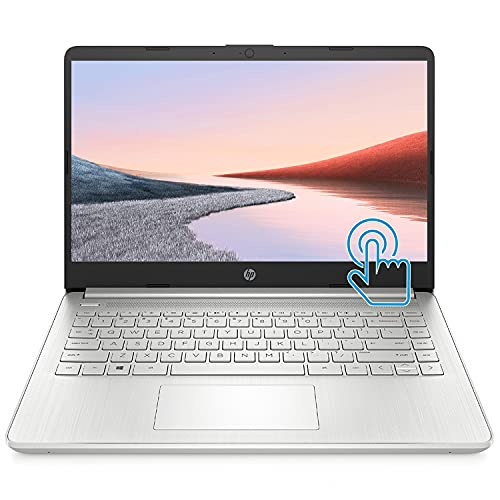 """HP Premium Laptop (2021 Latest Model), 14"""" HD Touchscreen, AMD Athlon Processor, 8GB RAM, 128GB SSD, Webcam, HDMI, Bluetooth, Wi-fi, Long Battery Life, Online Conferencing, Natural Silver, Win 10"""