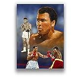 Boxing Boxer Champion Muhammad Ali Cita motivacional Póster Lienzo Imágenes artísticas Impresión Decoración para el hogar Regalos- (60X80Cm) -24x32 pulgadas sin borde
