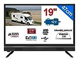 Television Camping Car Camion 18,5' 47cm LED HD TNTHD 12V 220V MANN19S