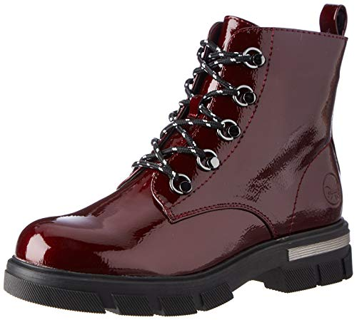 Rieker Damen 92610 Mode-Stiefel, rot, 40 EU