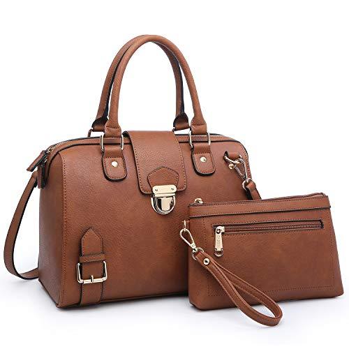 Buckle Satchel Handbag - 2