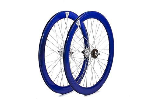 Bical Ruedas Fixie Perfil 60 (Azul)