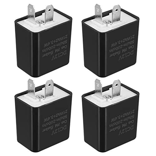 VICASKY 4 Piezas de Relé Electrónico Intermitente Led para Luz de Giro Rápido Hyper Flash