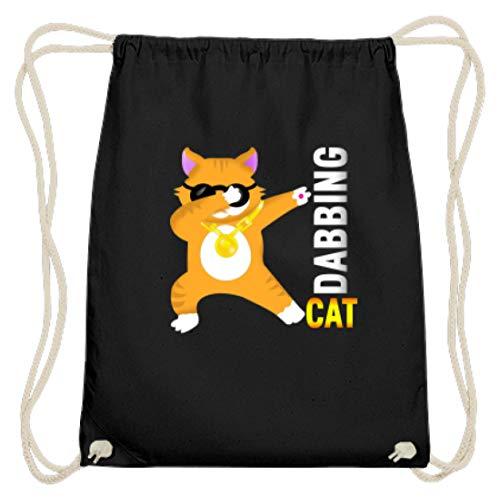 Dabbing Cat – Dabbin Gatto Dab – Occhiali da sole Hipster – Design semplice e divertente – Cotone Gymsac, Nero (Nero ), 37cm-46cm