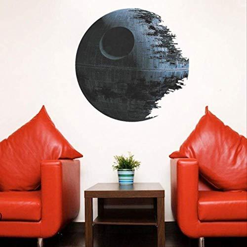 Sticker Mural Étoile De La Mort Oeuvre Star Wars Sticker Mural Amovible 3Dhome Decor Art Clone Autocollants Muraux