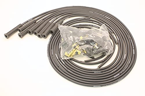 PerTronix 808280 Flame-Thrower Black 8mm Universal 180 Degree Spark Plug Wire for 8 Cylinder