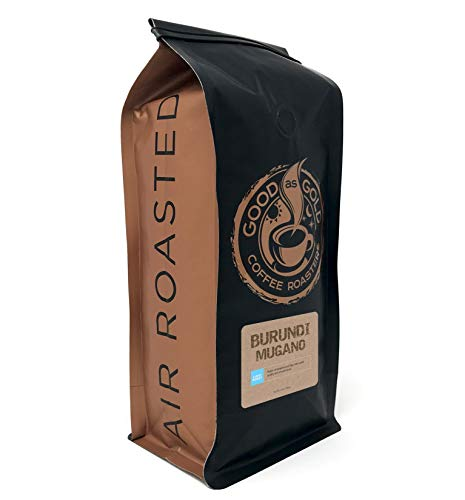 Burundi Mugano Coffee Beans, Light/Medium Roast, Air Roasted Coffee, Good As Gold Coffee Roasters - 12oz Bag Whole Bean