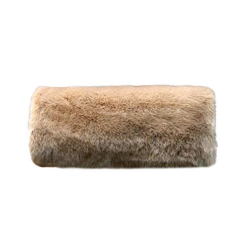 Wed2BB Faux Fur Hand Muffs Women Warm Faux Fur Muffs Khaki