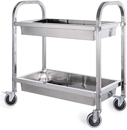 Learn More About BBG Multifunction Portable Hand Truckscart,2 Tier Stainless Steel Bowl Dining Car, ...