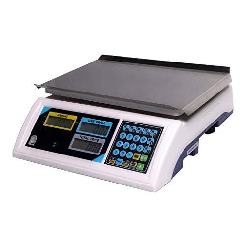 YZSHOUSE Básculas Electronica Digital - Comercial Peso Valuación Balanza De Plataforma con LED Pantalla Retroiluminada, Acero Inoxidable Precisión Producir Escalas (Capacity : 3KG)