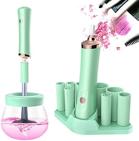Senbowe Upgraded Makeup Brush Cleaner and Dryer Machine Electric Cosmetic Automatic Brush Spinner product image